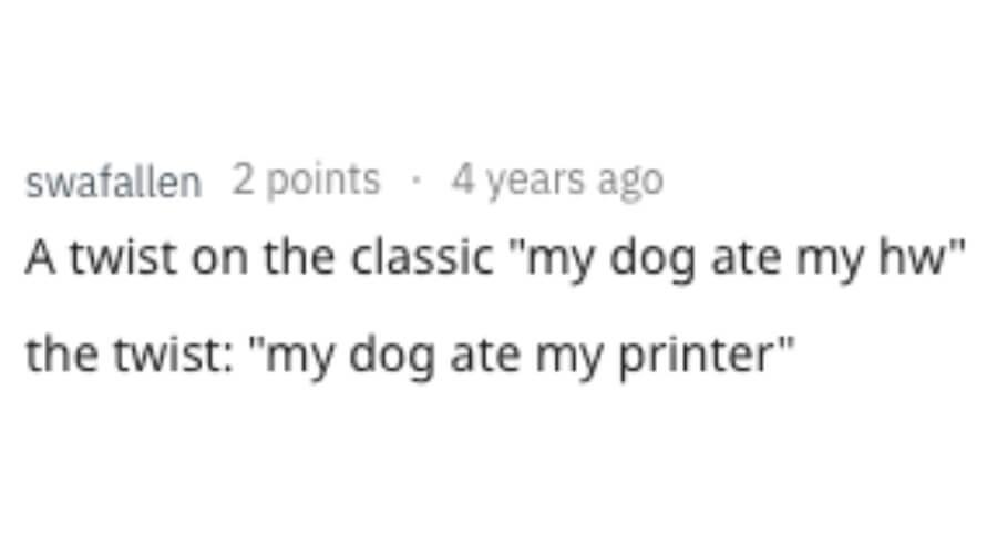A twist in the classic