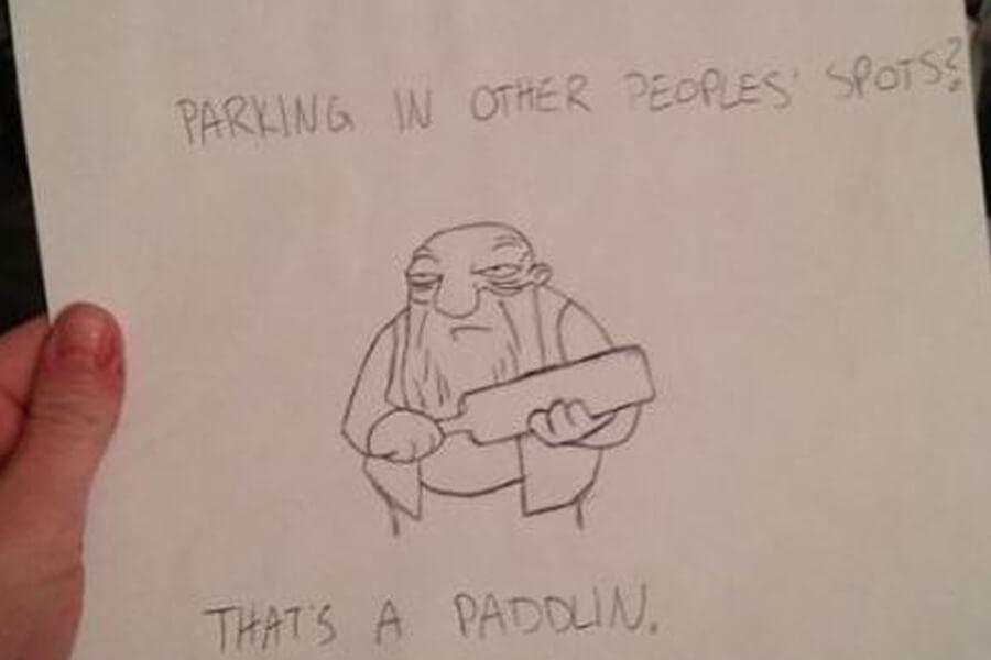 thats a paddlin