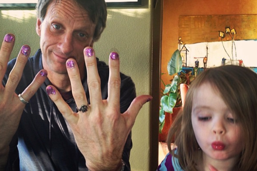 tony hawk painted nails