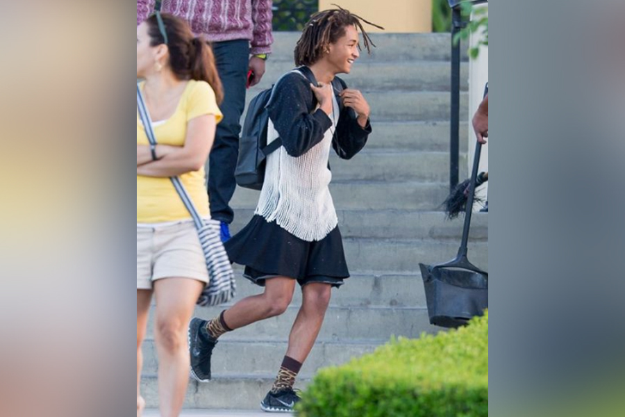 jaden smith in a dress