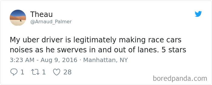 uber driver 5 lanes