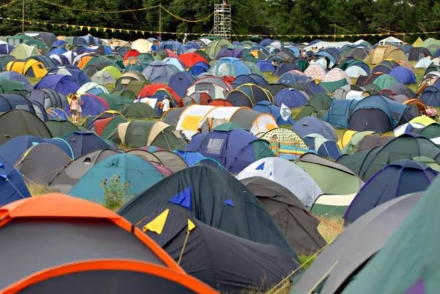 too many tents