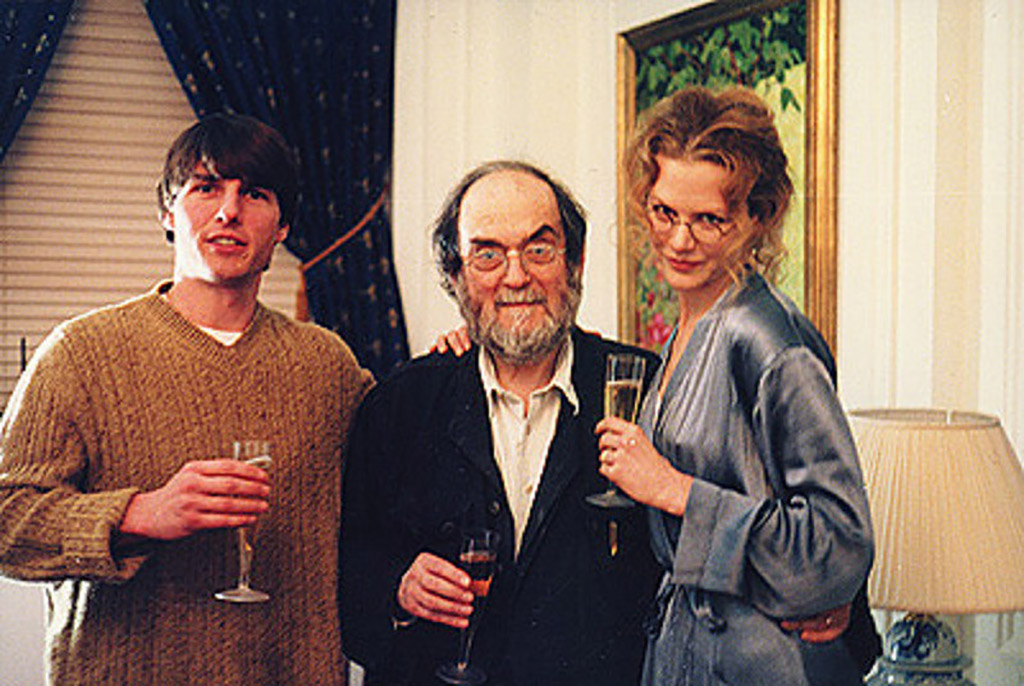 Kubrick in his Apartment with Cruise and Kidman