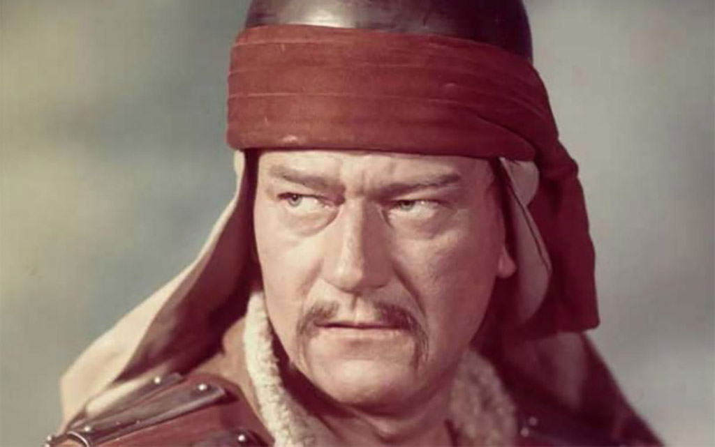 Photo of John Wayne as Genghis Khan