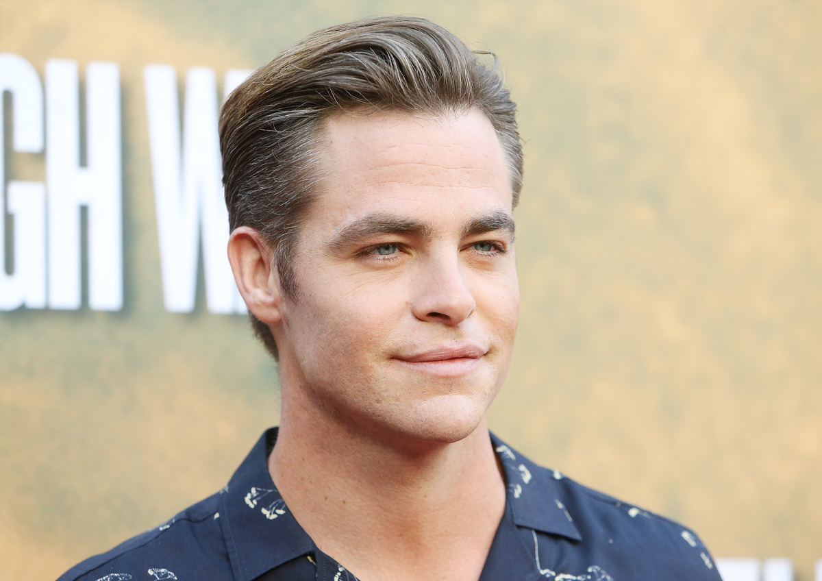 Chris Pine has a strong jawline