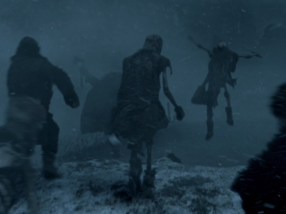 wights jumping off walls hardhome