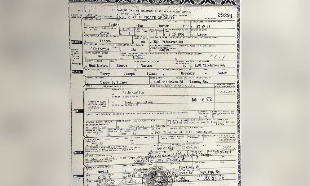 becky sue turner mystery id case