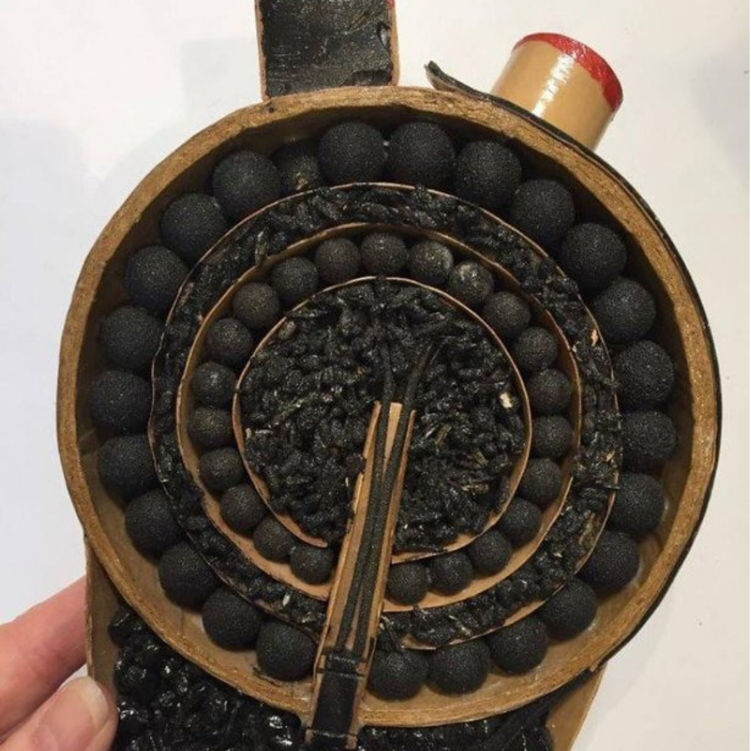 cut cross section of firework shell