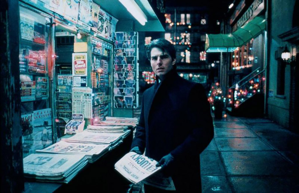 Tom Cruise at a newsstand