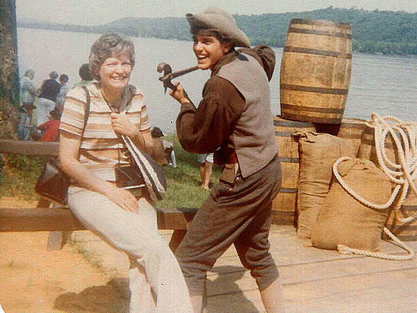 George Clooney dressed as a settler