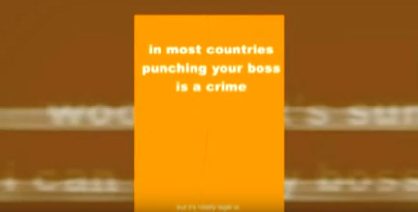 laazi ad punching boss