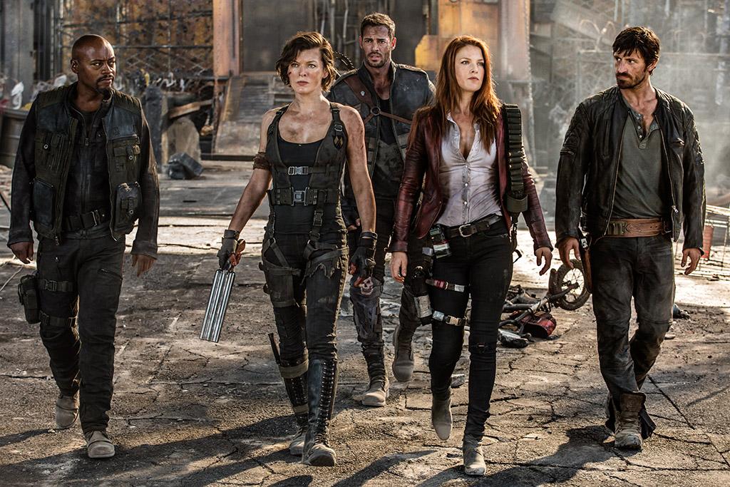 Resident Evil cast walking