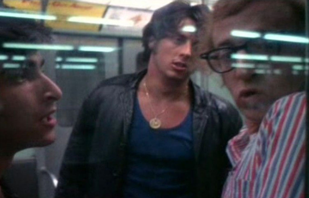 sylvester stallone on the subway