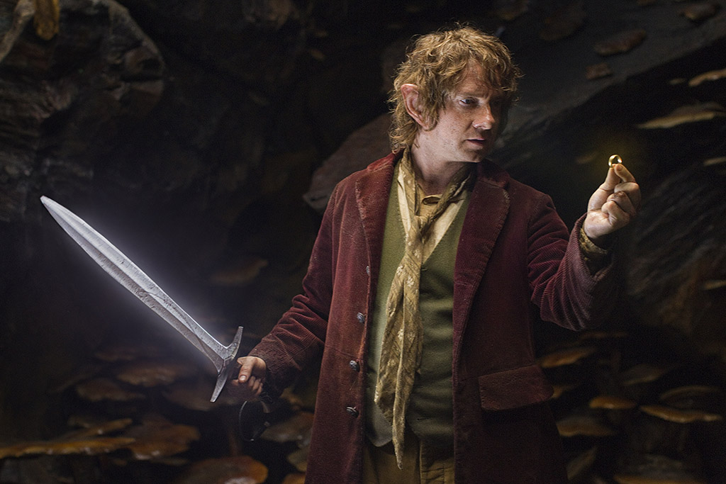 Picture of Bilbo Baggins with the ring