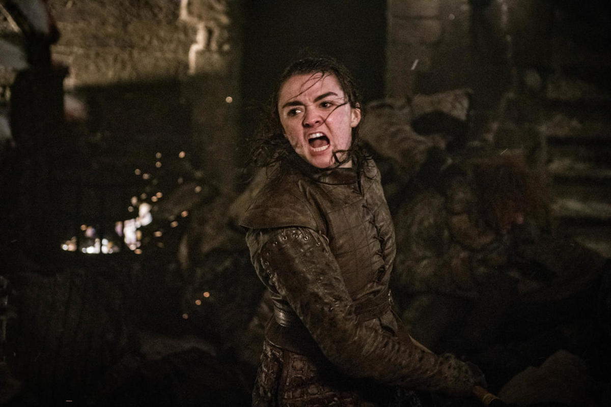 Arya in battle got