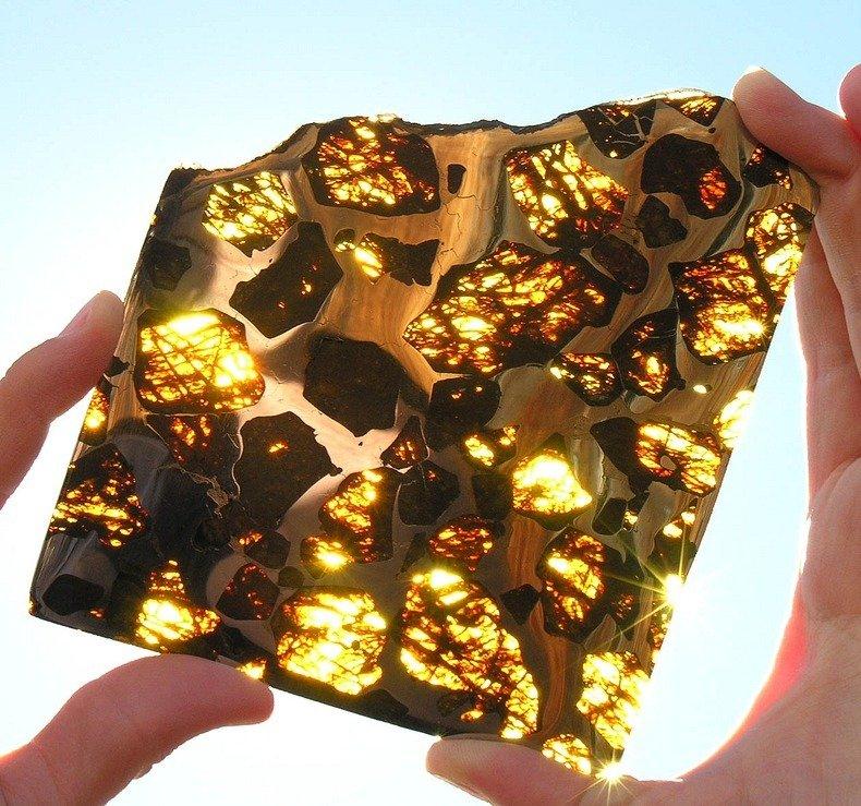half of the fukang meteorite