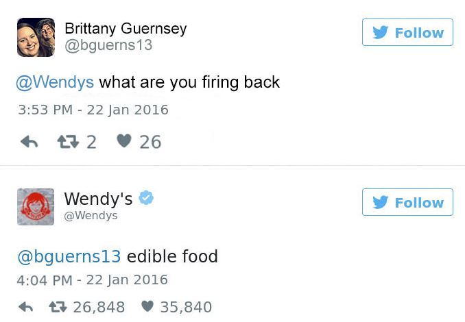 wendys four for four response against burger king