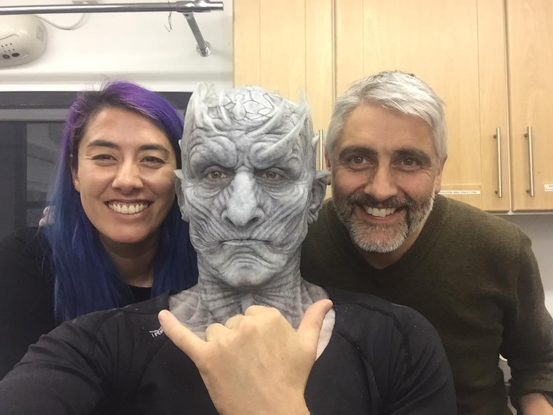 night king in the makeup chair