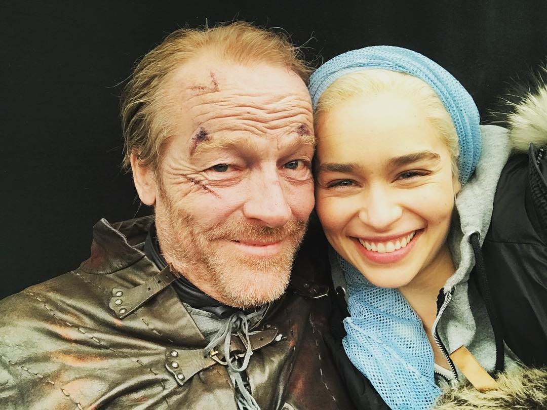 dany and jorah behind the scenes
