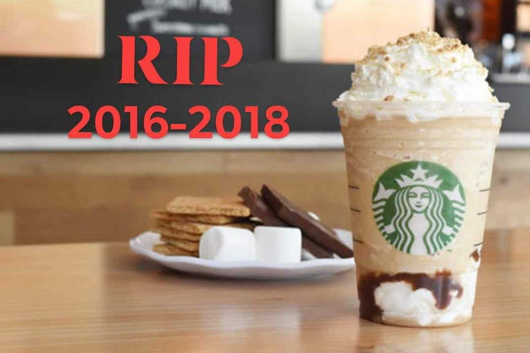 s'mores frappuccino discontinued