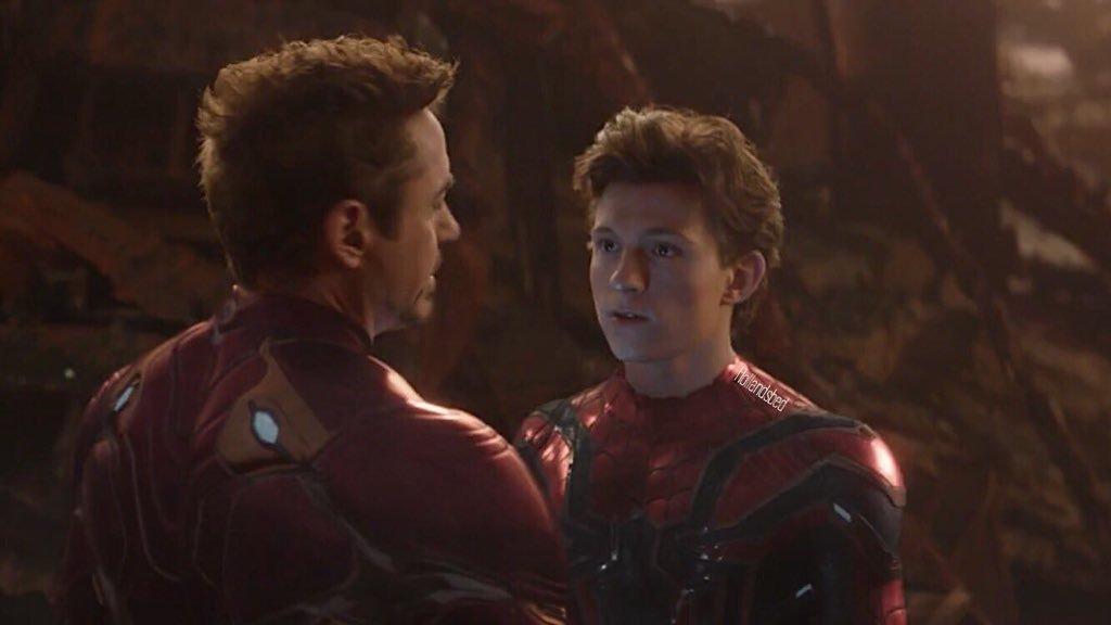tom holland and tony stark i dont feel so good