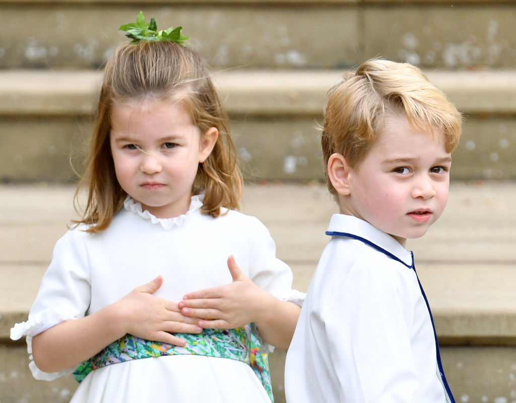 Charlotte and george at eugenies' wedding