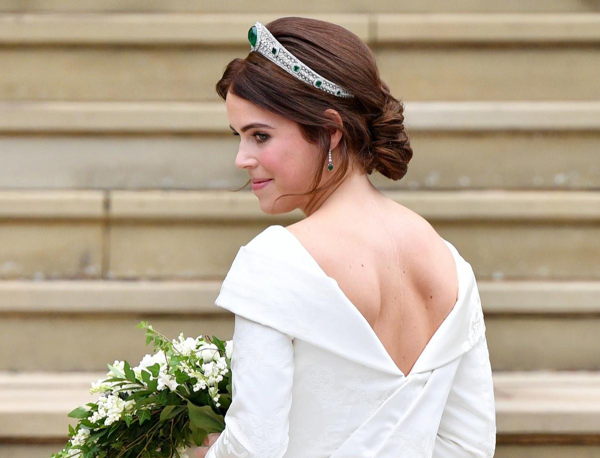 Princess Eugenie arrives at St George's Chapel ahead of her and Jack Brooksbank's wedding ceremony