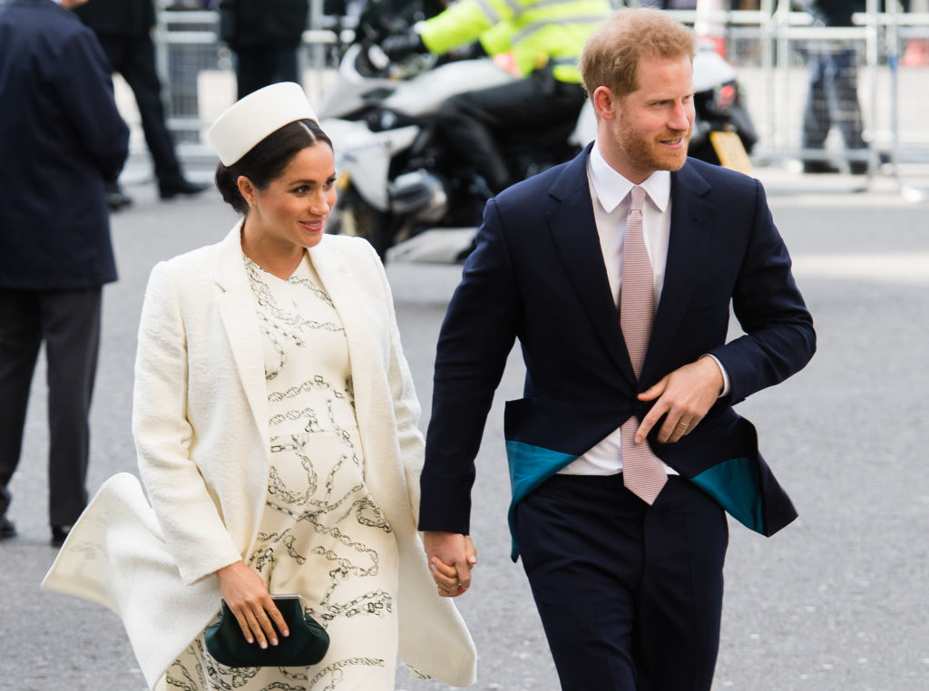 Prince Harry, Duke of Sussex and Meghan, Duchess of Sussex attend the Commonwealth Day service at Westminster Abbey
