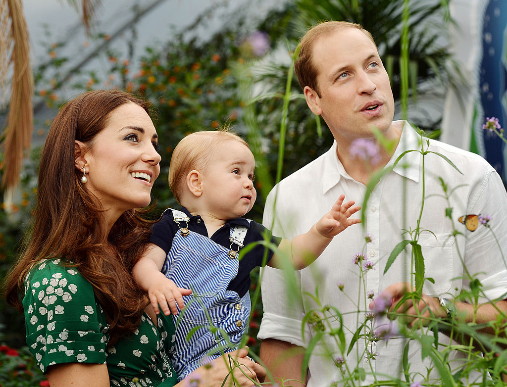 Catherine, Duchess of Cambridge holds Prince George