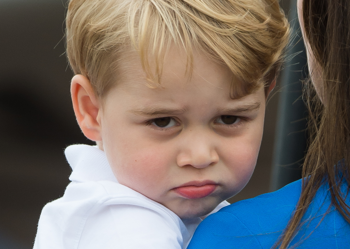 Prince George of Cambridge attends the The Royal International Air Tattoo