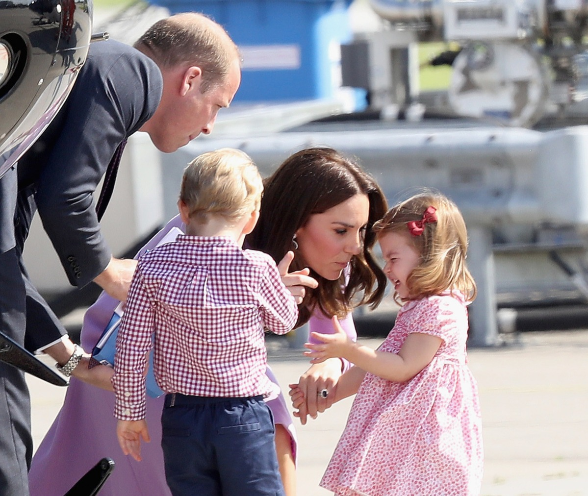 Prince William, Duke of Cambridge, Catherine, Duchess of Cambridge, Prince George of Cambridge and Princess Charlotte of Cambridge
