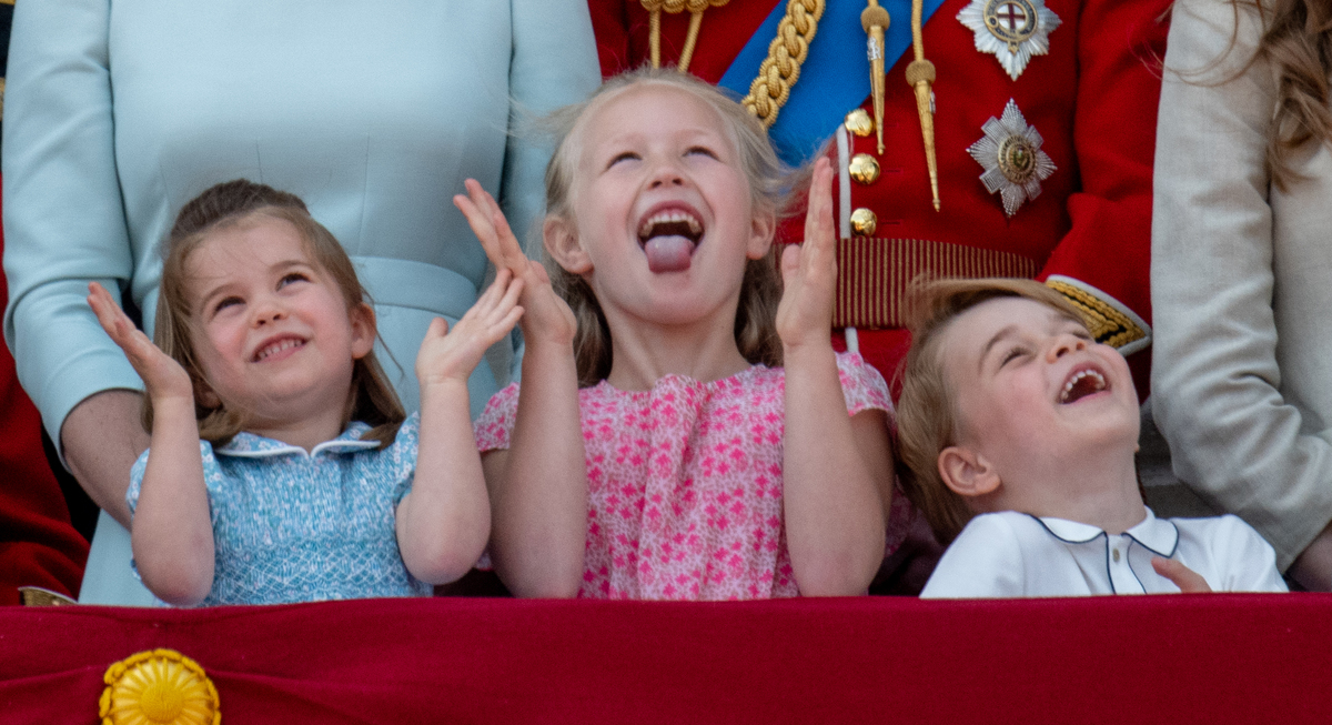 Princess Charlotte of Cambridge, Savannah Phillips and Prince George of Cambridge