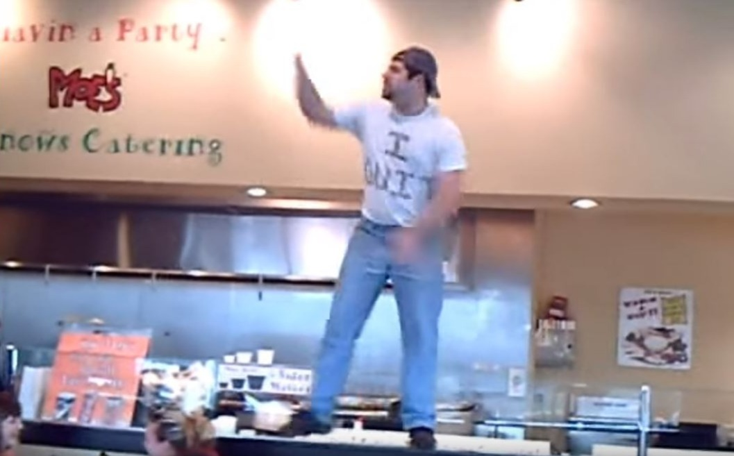 A manager quit by dancing on the counter at Moe's