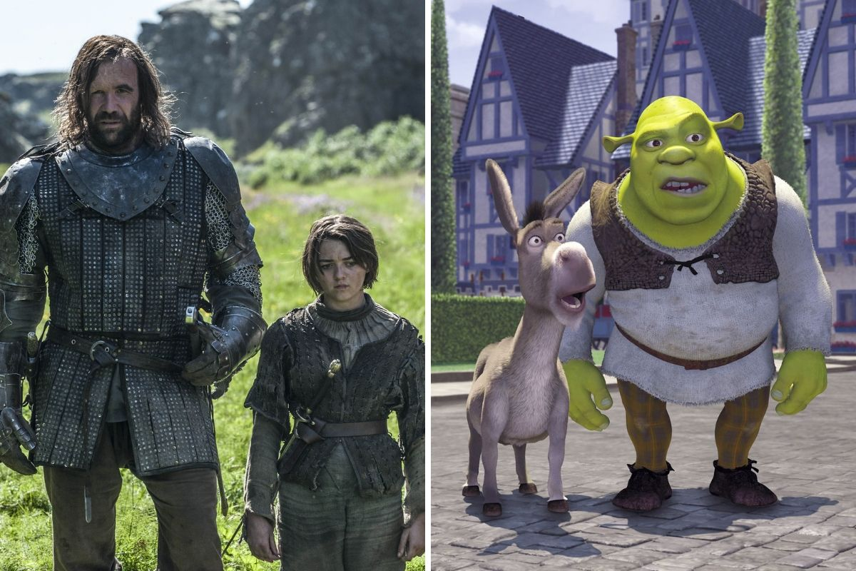 arya and the hound game of thrones season four