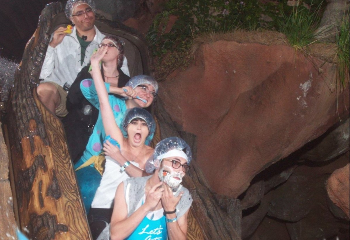 bath time at splash mountain