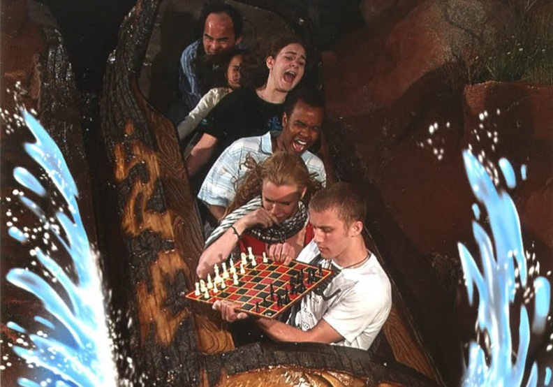 chess on splash mountain