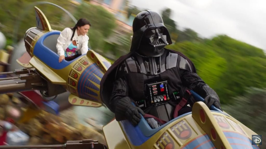 darth vadar on a disneyland ride