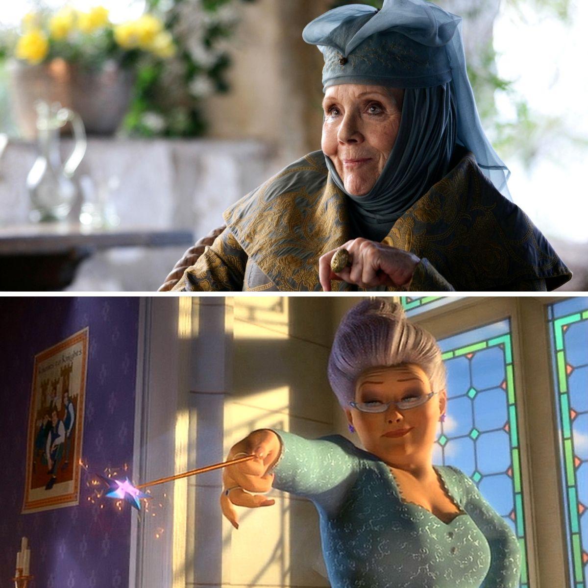 olenna tyrell is a magin fairy godmother