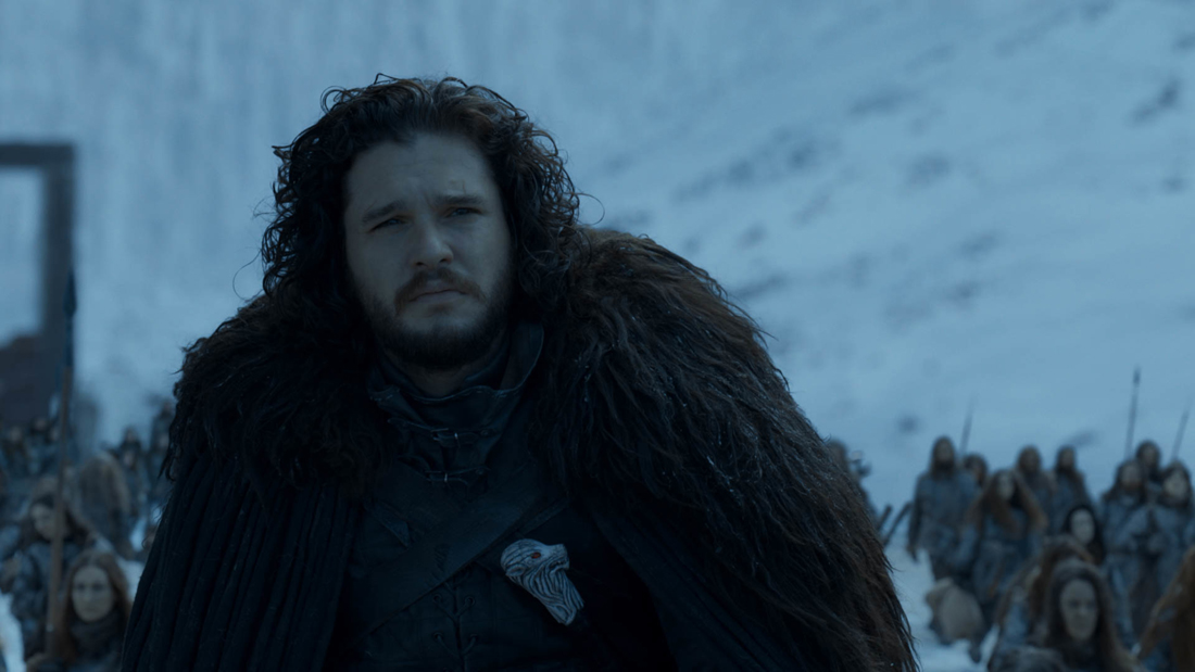 jon snow in the game of thrones finale
