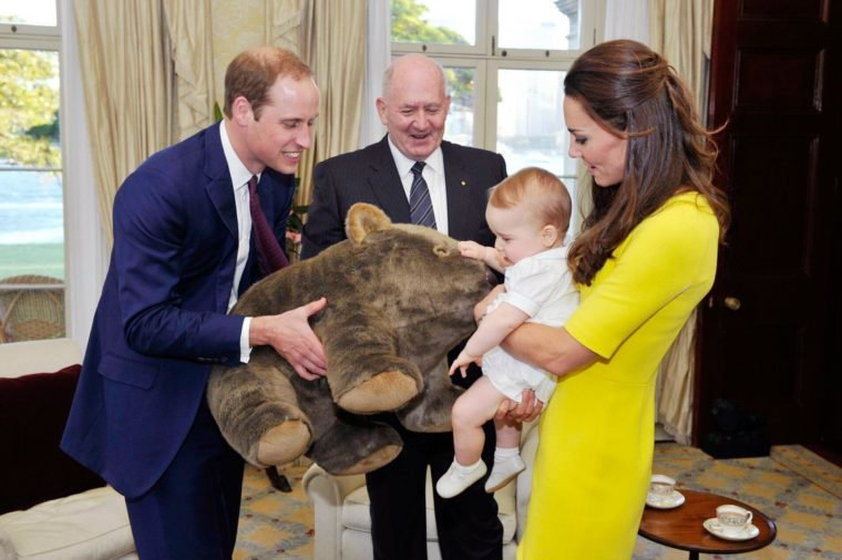 Prince george gets a gift