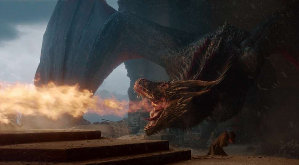 iron throne drogon game of thrones series finale