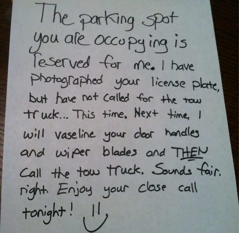 passive aggressive car notes