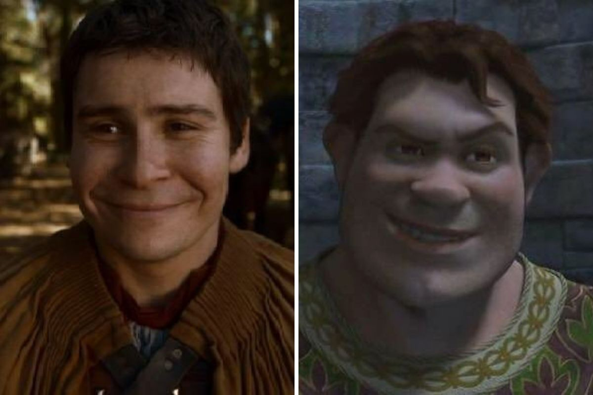 podrick is just as handsome as human shrek