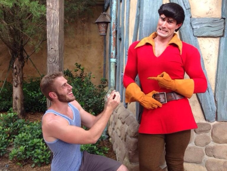 proposing to Gaston
