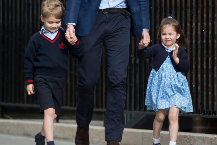 George and Charlotte walking
