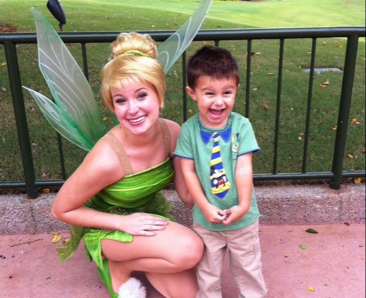 smiling with tinkerbell