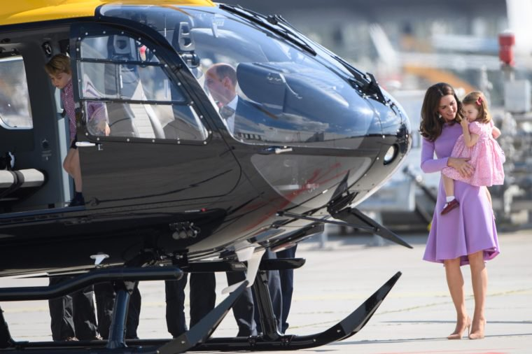 kate and Charlotte by helicopter