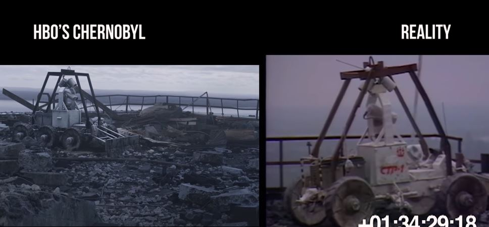 Chernobyl clean up vehicle hbo series vs reality