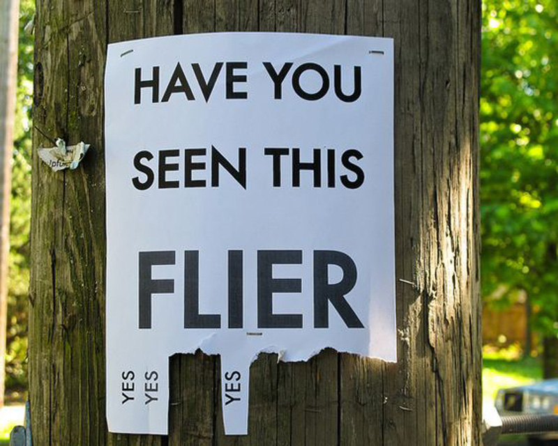have you seen this flier? the only option is yes