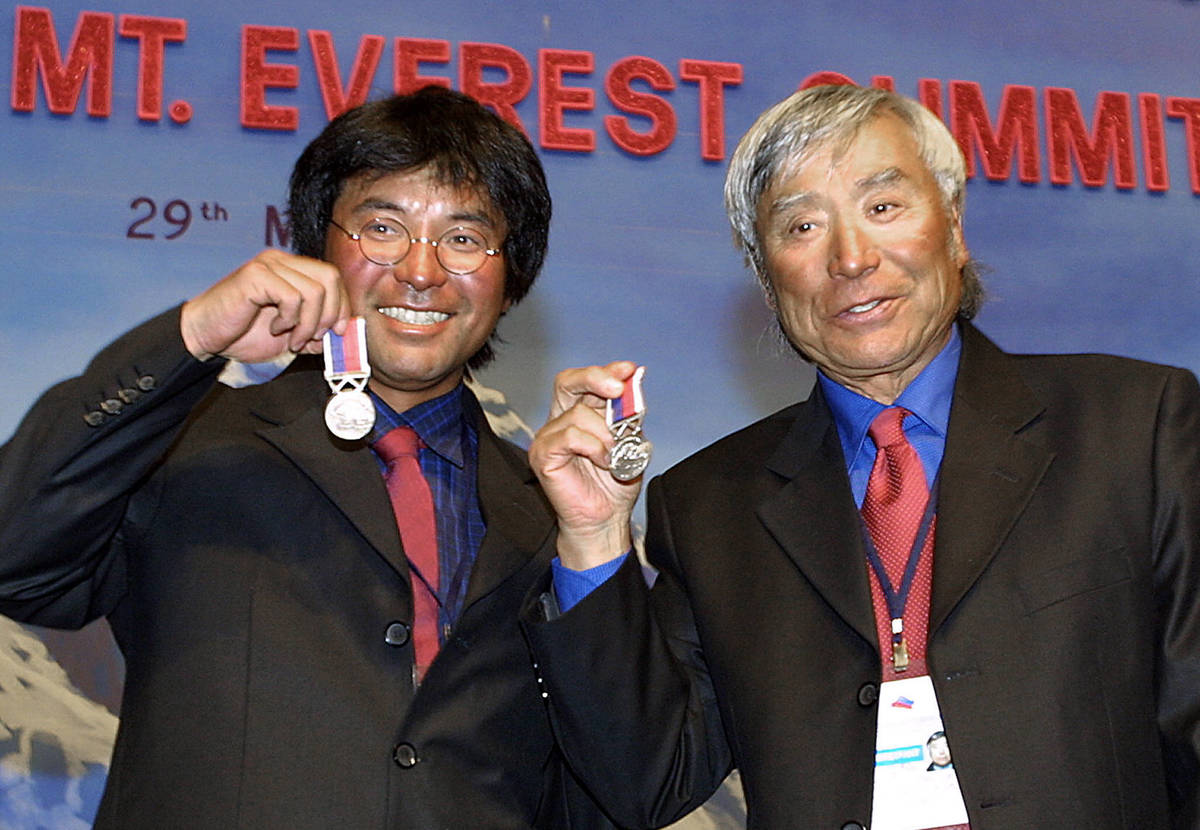 At 70 years old Japnaese skier Yuichrio Miura became the oldest man to summit the Mt Everest